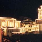 La parrocchiale illuminata a festa